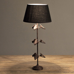 Lamp With 9 Clips Brown And Gold Finish