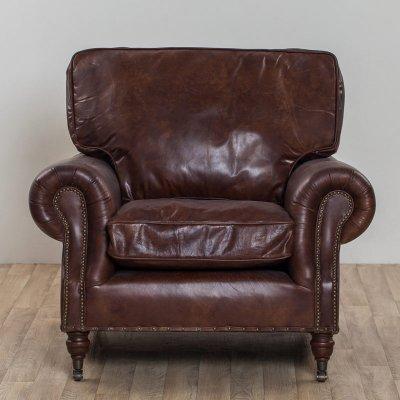 Balmoral 1 Seater Leather Vintage Cigar