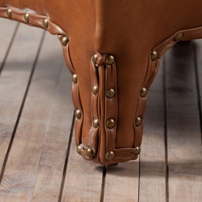 Branco Chair Leather Old Saddle Nut