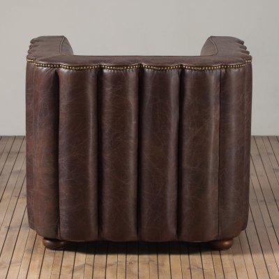 New Club 1 Seater Leather Biker Tan