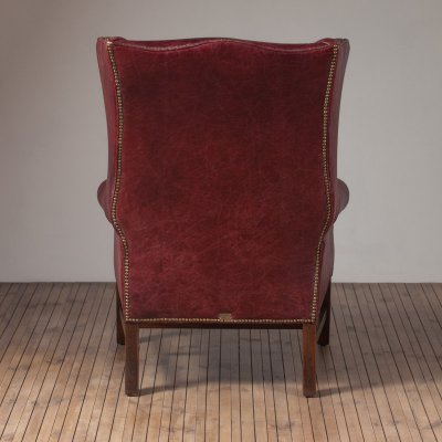 Daddy Downing Chair  Leather Library Red