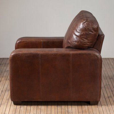 Lush 1 Seater Leather Vintage Cigar