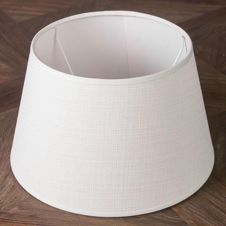 Абажур из льна белого цвета, 25 см Lamp Shade White Linen 25 сm