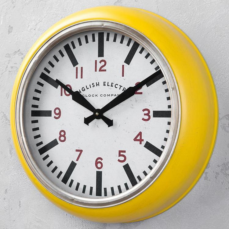 Настенные часы English Electric Yellow Clock English Electric