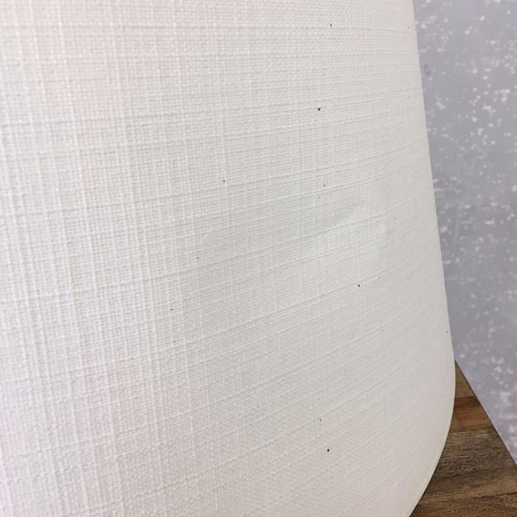 Абажур из льна белого цвета, 50 см дисконт Cylindrical Shade In Linen White 50 cm discount