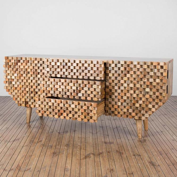 Комод из дерева манго Попурри, 2 дверцы Two Doors Dresser Meli-Melo Mango Wood