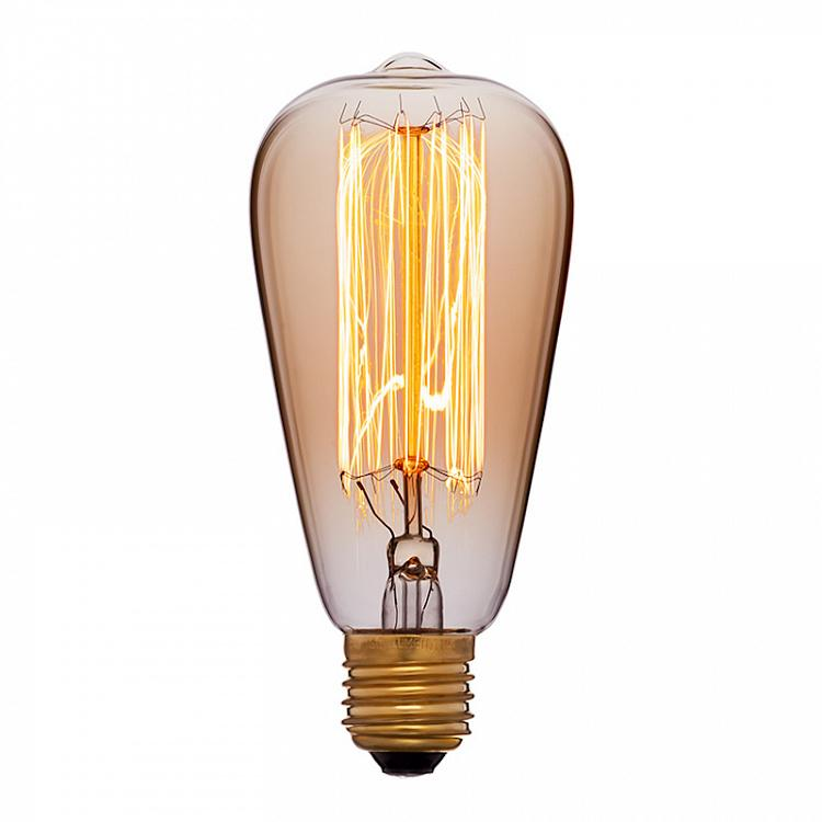Лампа накаливания Эдисон Цеппелин Скрэтч E27 40Вт, золотая колба Edison Zeppelin Gold Scratch E27 40W