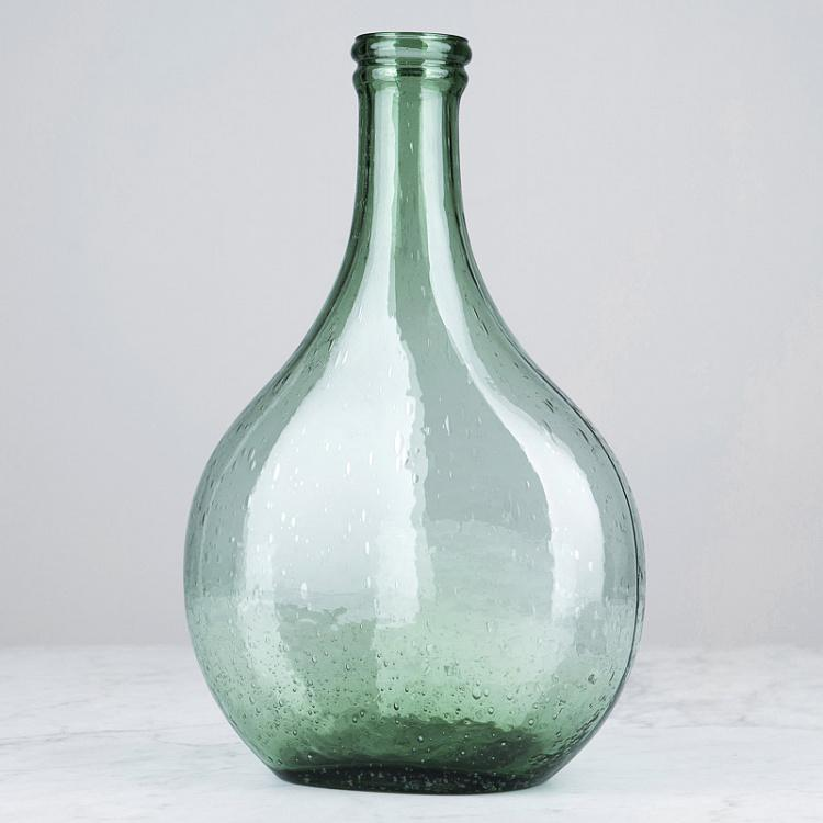 Овальная зелёная ваза, S Oval Green Vase Small