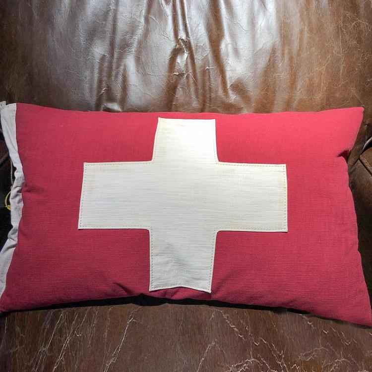 Декоративная подушка с флагом Швейцарии, S дисконт Flag Cushion Switzerland Small discount