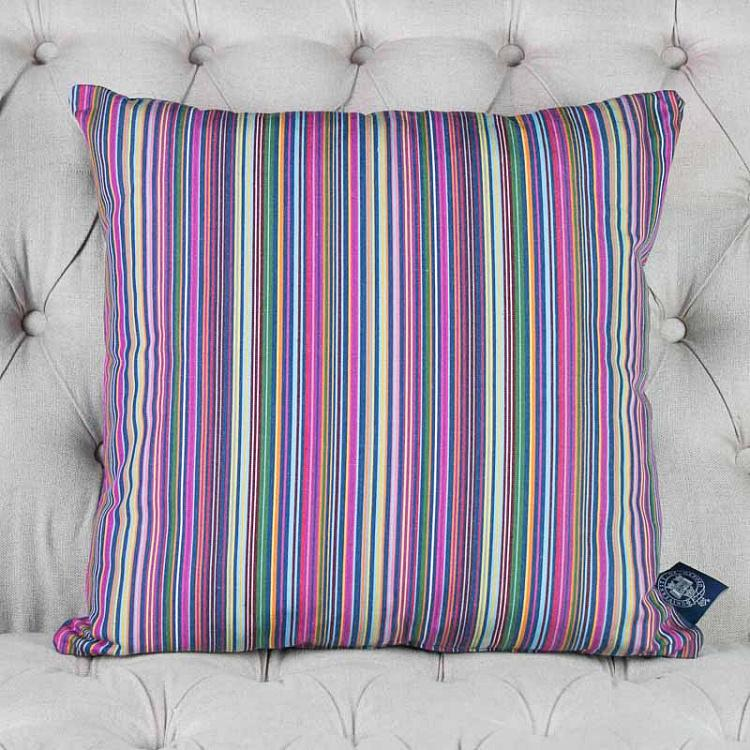 Квадратная подушка в традиционную оксфордскую полоску, S Cushion Stripe Square Small