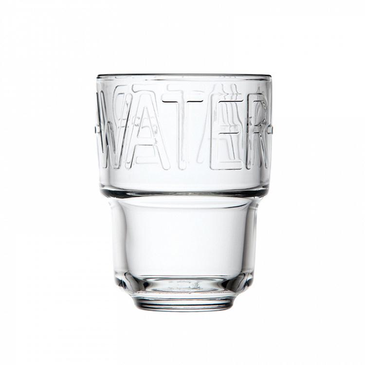 Стакан Бостон с надписью Вода Boston Decor Water Tumbler