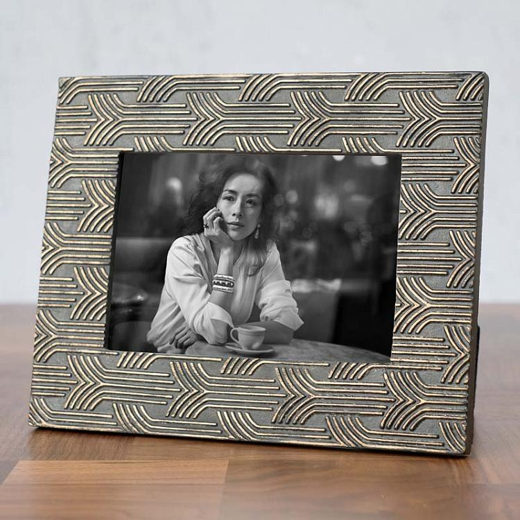 Рамка для фото Ар-деко Art Deco Black And Gold Picture Frame