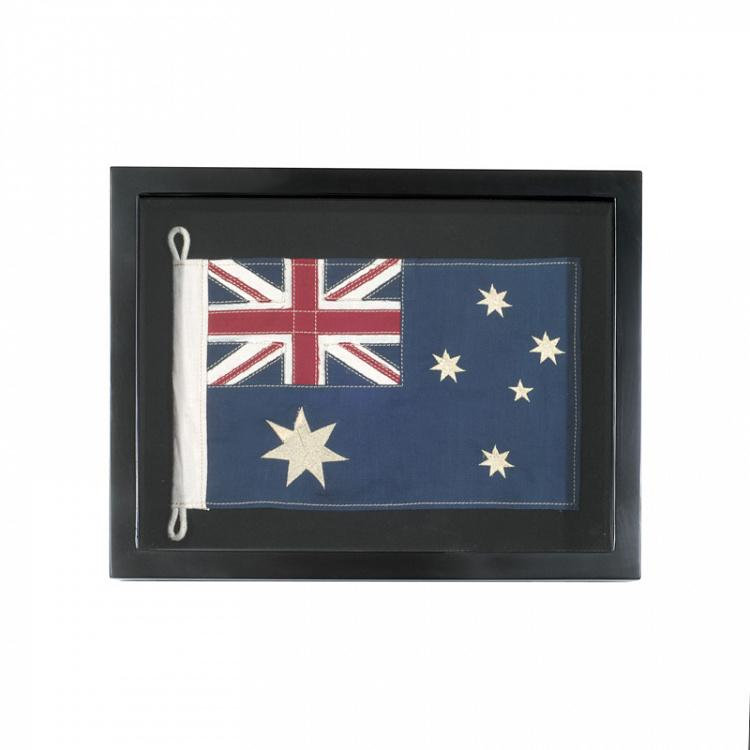 Флаг Австралии за стеклом в раме, мини Shadow Box Flag Australia Mini